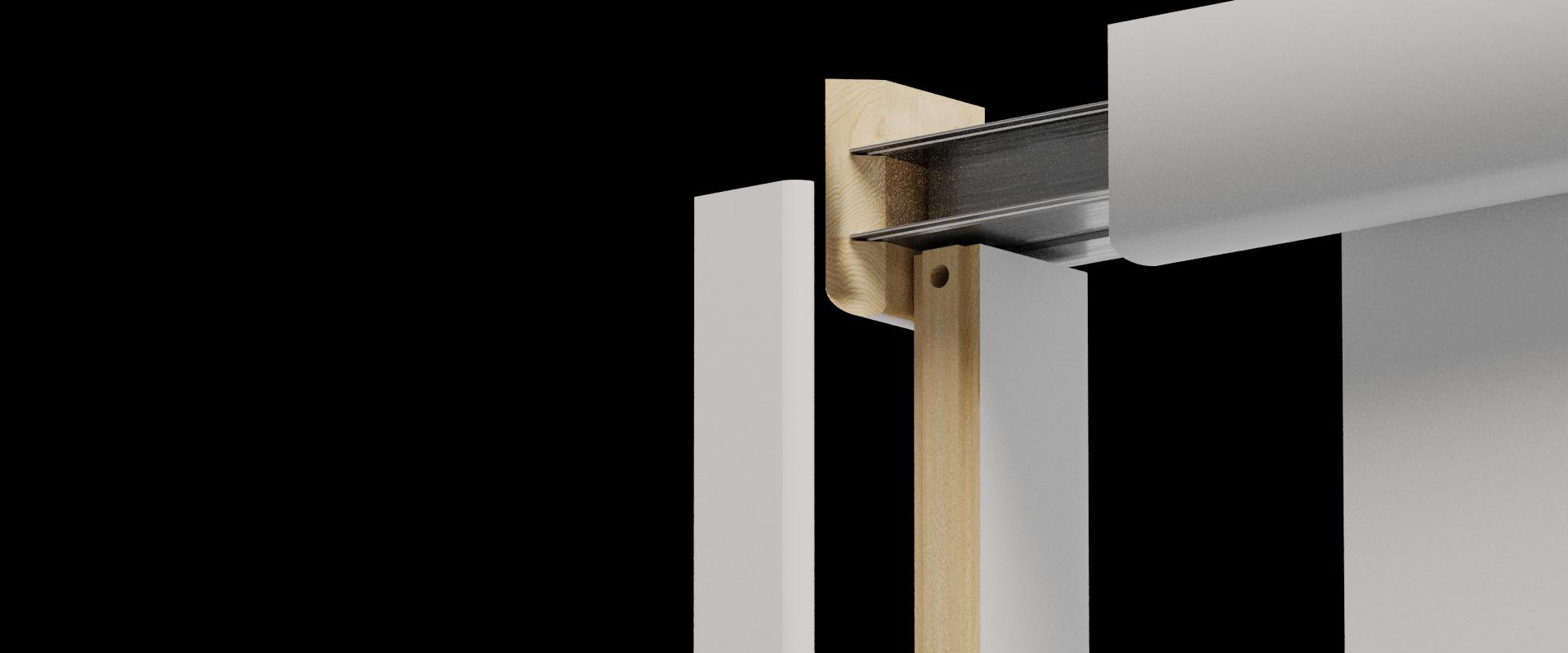 Porte coulissante en applique, coulicool, bricolage, porte, porte coulissante, grande surface, bois, porte bois, moderne, tendance, design, contour de porte, recouvrir dormants, nez de cloison